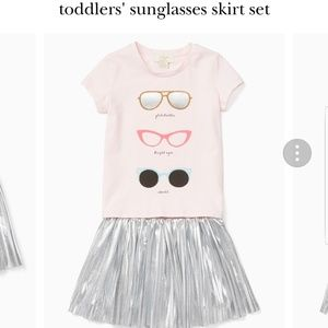 Kate Spade 2pc girls sunglass skirt set NWT 2T
